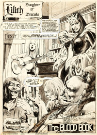 "Bob Brown, Neal Adams, and the Crusty Bunkers Dracula Lives #10 Complete 16-Page Story ""The Blood Book"" Origin..."