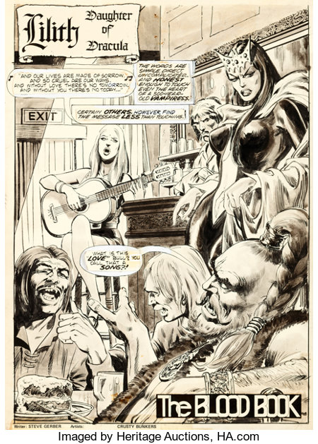 """Bob Brown, Neal Adams, and the Crusty Bunkers Dracula Lives #10 Complete 16-Page Story """"The Blood Book"""" Original A... (Total: 16 Original Art)"""