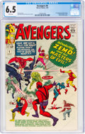 Silver Age (1956-1969):Superhero, The Avengers #6 (Marvel, 1964) CGC FN+ 6.5 White pages.