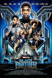 "Black Panther (Walt Disney Studios, 2018). Rolled, Very Fine+. One Sheet (27"" X 40"") DS Advance. Action"