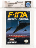 Video Games:Nintendo, F-117A Stealth Fighter - Carolina Collection Wata 6.5 A Sealed NES Microprose 1992 USA....