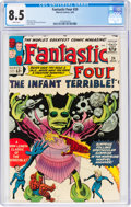 Silver Age (1956-1969):Superhero, Fantastic Four #24 (Marvel, 1964) CGC VF+ 8.5 White pages....