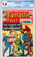Silver Age (1956-1969):Superhero, Fantastic Four #27 (Marvel, 1964) CGC FN/VF 7.0 White pages....