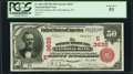 National Bank Notes:Pennsylvania, Stroudsburg, PA - $50 1902 Red Seal Fr. 666 The Stroudsburg National Bank Ch. # (E)3632 PCGS About New 53.. ...