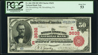 Stroudsburg, PA - $50 1902 Red Seal Fr. 666 The Stroudsburg National Bank Ch. # (E)3632 PCGS About New