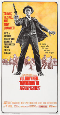 "Invitation to a Gunfighter (United Artists, 1964). Folded, Very Fine. Three Sheet (41"" X 79""). Western"