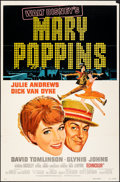 """Movie Posters:Fantasy, Mary Poppins & Other Lot (Buena Vista, R-1973). Folded, Fine+. One Sheets (2) (27"""" X 41""""). Paul Wenzel Artwork. Fantasy.. ... (Total: 2 Items)"""