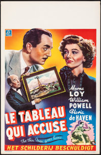 "The Thin Man Goes Home (MGM, 1945). Rolled, Very Fine-. Belgian (14"" X 21.75""). Mystery"
