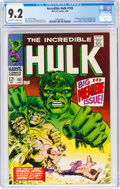 Silver Age (1956-1969):Superhero, The Incredible Hulk #102 (Marvel, 1968) CGC NM- 9.2 Off-wh...