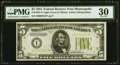 Small Size:Federal Reserve Notes, Low Serial Number 2358 Fr. 1955-I* $5 1934 Light Green Seal Federal Reserve Star Note. PMG Very Fine 30.. ...