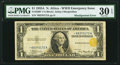 Error Notes:Shifted Third Printing, Fr. 2306* $1 1935A North Africa Silver Certificate. PMG Very Fine 30 EPQ.. ...