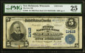 National Bank Notes:Wisconsin, New Richmond, WI - $5 1902 Plain Back Fr. 606 T...