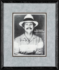 """Ron Howard Lot (1985). Very Fine+. Framed and Autographed Magazine Page (15"""" X 18""""). Miscellaneous"""