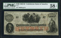 Confederate Notes:1862 Issues, T41 $100 1862 PF-53 Cr. 325A PMG Choice About Uncirculated 58 EPQ.. ...