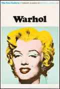 """Movie Posters:Miscellaneous, Marilyn Monroe by Andy Warhol (Tate Gallery, 1971). Rolled, Fine/Very Fine. British Art Gallery Poster (20"""" X 30"""").. ..."""