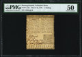 Colonial Notes:Pennsylvania, Pennsylvania March 10, 1769 1s PMG About Uncirculated 50.. ...