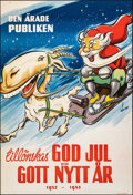 """Movie Posters:Foreign, Merry Christmas (1952). Folded, Fine/Very Fine. Swedish One Sheet (27"""" X 39""""). Foreign.. ..."""