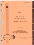 "Explorers:Space Exploration, Apollo 11: NASA Final ""Apollo 11 Flight Plan AS-506 / CSM-107 / LM-5"" Book as Used by NBC's Carl Stern in Reporting on..."