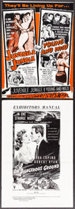 Movie Posters:Crime, Juvenile Jungle/Young and Wild Combo & Other Lot (Republic, 1958). Overall: Fine/Very Fine. Uncut Pressbooks (8) (Multiple P... (Total: 9 Items)