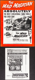 "Movie Posters:Horror, The Mad Magician (3-D) & Other Lot (Columbia, 1954). Fine/Very Fine. Uncut Pressbooks (4) (Multiple Pages, 8.5"" X 11"" - 18"" ... (Total: 5 Items)"
