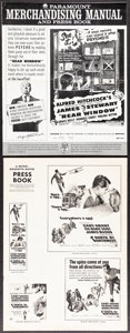 """Movie Posters:Hitchcock, Rear Window & Other Lot (Paramount, R-1962). Folded, Overall: Very Fine-. Uncut Pressbooks (7) (Multiple Pages, 8.75"""" X 13.7... (Total: 7 Items)"""