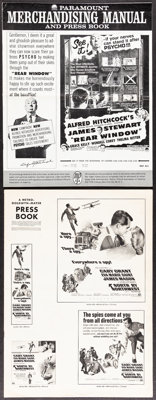 Rear Window & Other Lot (Paramount, R-1962). Folded, Overall: Very Fine-. Uncut Pressbooks (7) (Multiple Pages...