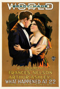 """Movie Posters:Drama, What Happened at 22 (World Pictures, 1916). Good+on Linen. One Sheet (27.75"""" X 41"""").. ..."""