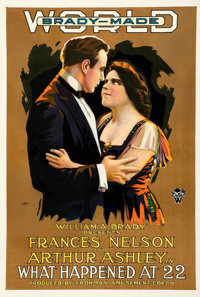 """What Happened at 22 (World Pictures, 1916). Good+on Linen. One Sheet (27.75"""" X 41"""")"""