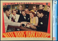 "Dark Victory (Warner Bros., 1939). Near Mint-. CGC Graded Linen Finish Lobby Card (11"" X 14"")"