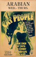 "Movie Posters:Horror, Cat People (RKO, 1942). Fine+. Window Card (14"" X 22"") William Rose Artwork. . ..."