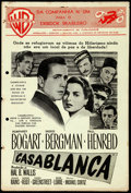 "Movie Posters:Academy Award Winners, Casablanca (Warner Bros., 1943). Folded, Fine. Brazilian Uncut Pressbook (3 Pages, 8.75"" X 13"").. ..."