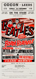Music Memorabilia:Memorabilia, The Beatles Original Odeon Leeds Handbill (UK-1963). ...