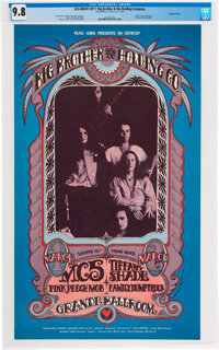Big Brother & the Holding Company with Janis Joplin 1968 Grande Ballroom Poster CGC Graded 9.8 (AOR-3.141)