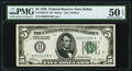 Fr. 1950-K* $5 1928 Federal Reserve Note. PMG About Uncirculated 50 EPQ