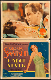 """Tonight or Never (United Artists, 1931). Fine/Very Fine. Title Lobby Card & Lobby Card (11"""" X 14""""). ... (T..."""