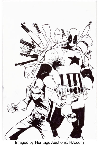 Original Comic Art:Covers, Skottie Young Cable & Deadpool #45 Cover Original Art (Marvel, 2007)....