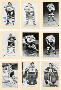 Autographs:Sports Cards, Signed 1944 - 1963 Bee Hive Hockey (Group Two) Boston Bruins (45). ...