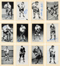 Autographs:Sports Cards, Signed 1944 - 1963 Bee Hive Hockey (Group Two) Chicago Black Hawks (51). ...
