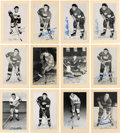 Autographs:Sports Cards, Signed 1944 - 1963 Bee Hive Hockey (Group Two) Detroit Red Wings (48). ...