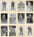 Autographs:Sports Cards, Signed 1944 - 1963 Bee Hive Hockey (Group Two) Toronto Maple Leafs (81). ...