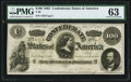 Confederate Notes:1862 Issues, T49 $100 1862 PF-2 Cr. 348 PMG Choice Uncirculated 63.. ...