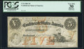 Confederate Notes:1861 Issues, T32 $5 1861 PF-2 Cr. 249 PCGS Apparent Very Fine 30.. ...