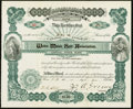 Obsoletes By State:New Hampshire, Weirs, NH- Weirs Music Hall Association Stock Certificate 5 Shares June 1, 1903 Very Fine.. ...