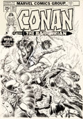 Original Comic Art:Covers, John Buscema and John Romita Sr. Conan the Barbarian #59 Cover Original Art (Marvel, 1976)....