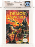 Video Games:Nintendo, Demon Sword - Carolina Collection Wata 9.6 A+ Sealed NES Taito 1990 USA....
