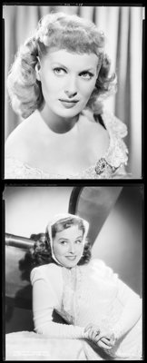 """Maureen O'Hara & Other Lot (1940s). Overall: Fine/Very Fine. Safety Negatives (4) (8"""" X 9.75"""" X 8"""" x..."""