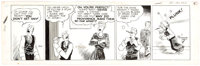 Stanley Link The Dailys Daily Original Art Comic Strip dated 1-24-48(Chicago Tribune, 1948)