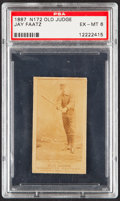 Baseball Cards:Singles (Pre-1930), 1887 N172 Old Judge Jay Faatz PSA EX-MT 6....
