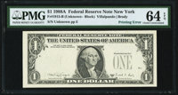 Fr. 1915-B $1 1988A Federal Reserve Note. PMG Choice Uncirculated 64 EPQ