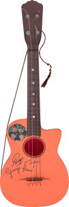Music Memorabilia:Memorabilia, The Beatles Cutaway Plastic Guitar by Selcol (UK, 1964).. ...